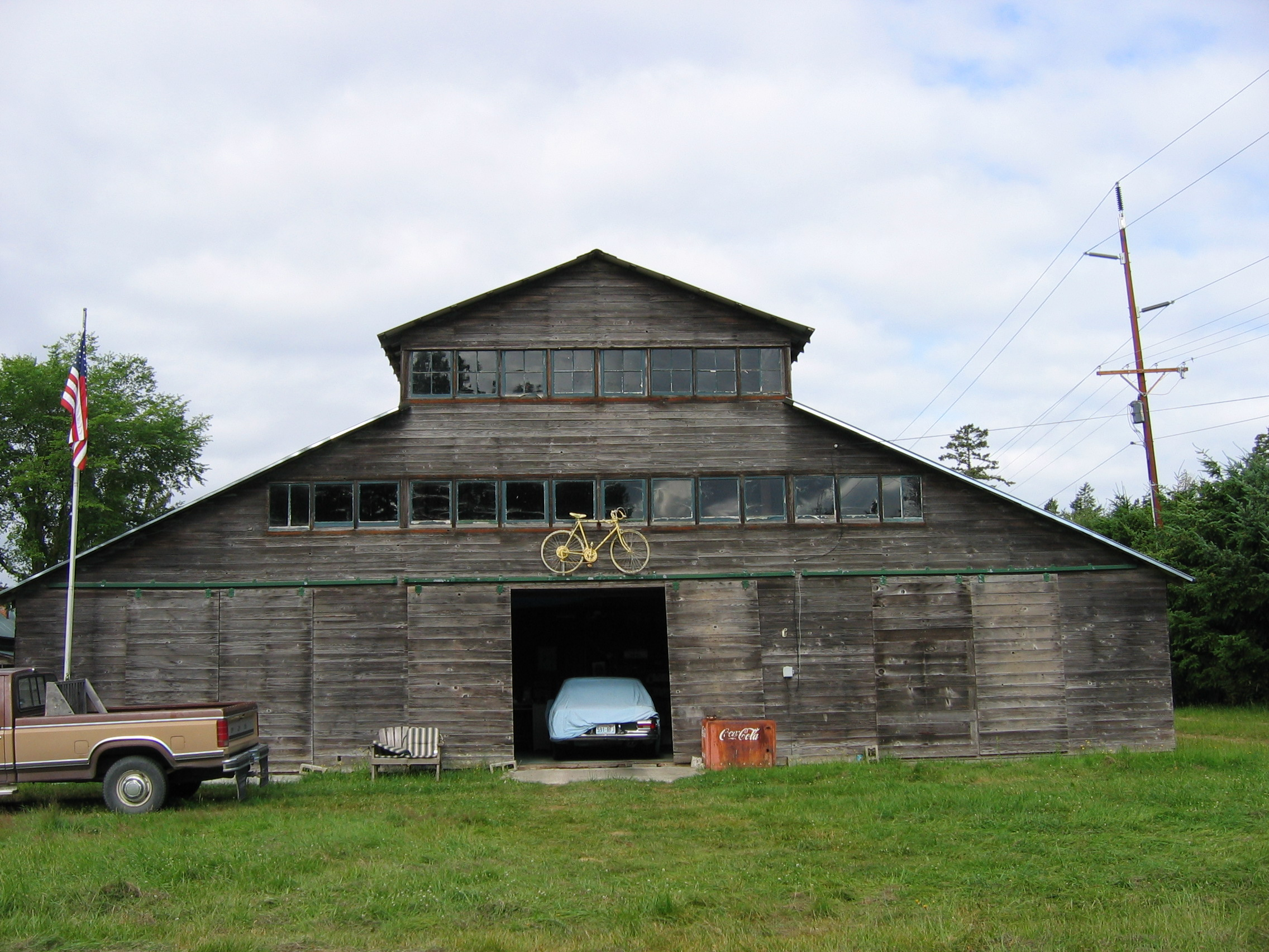 roof type historic barns of the san juan islands facade east