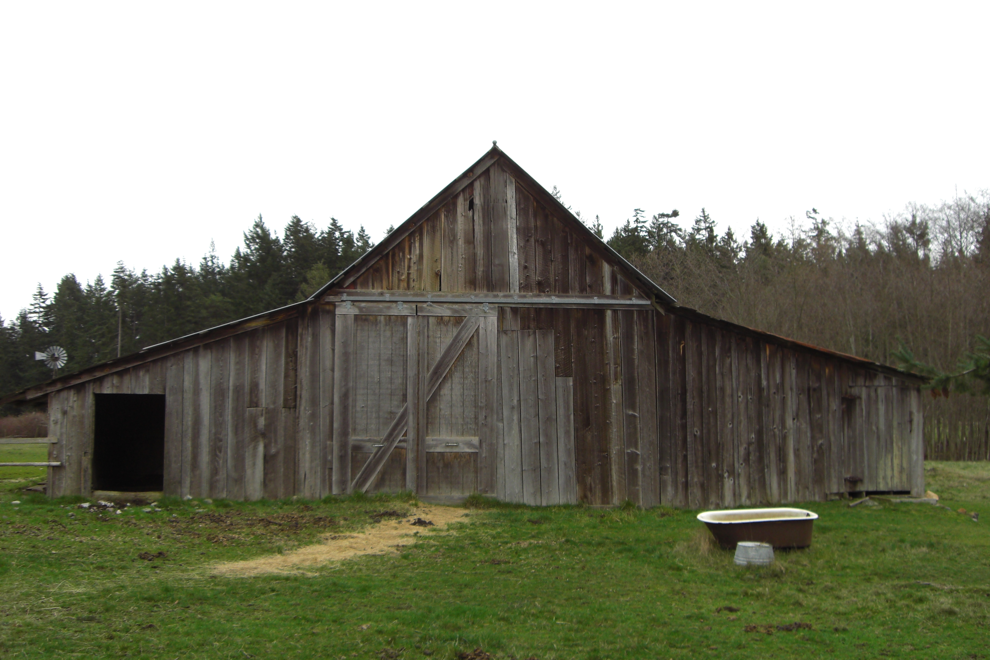 Roof type historic barns of the san juan islands for Gable shed