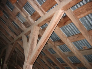 Interior Structure Purlin Post and Braces