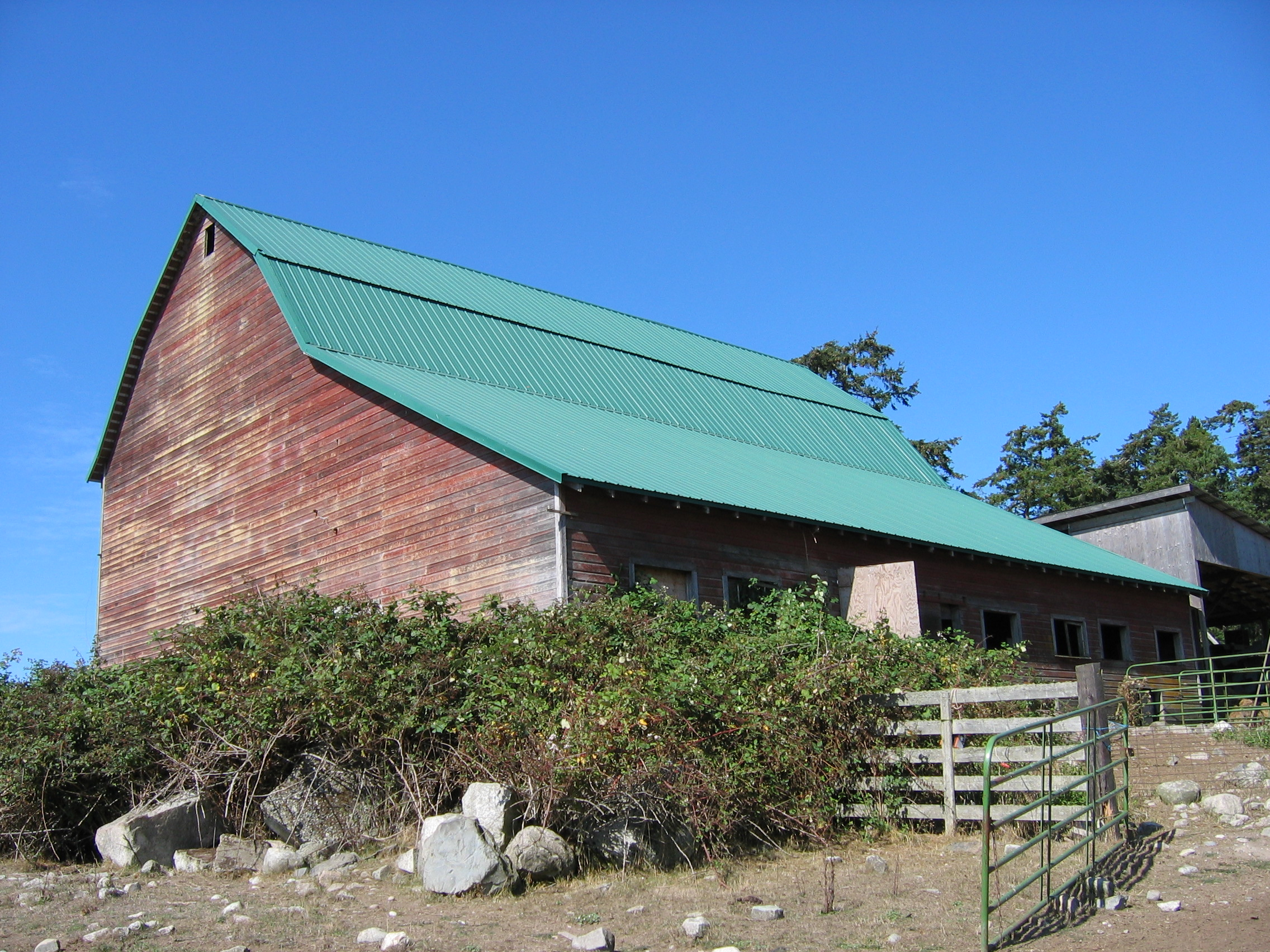 gambrel historic barns of the san juan islands view from se barn