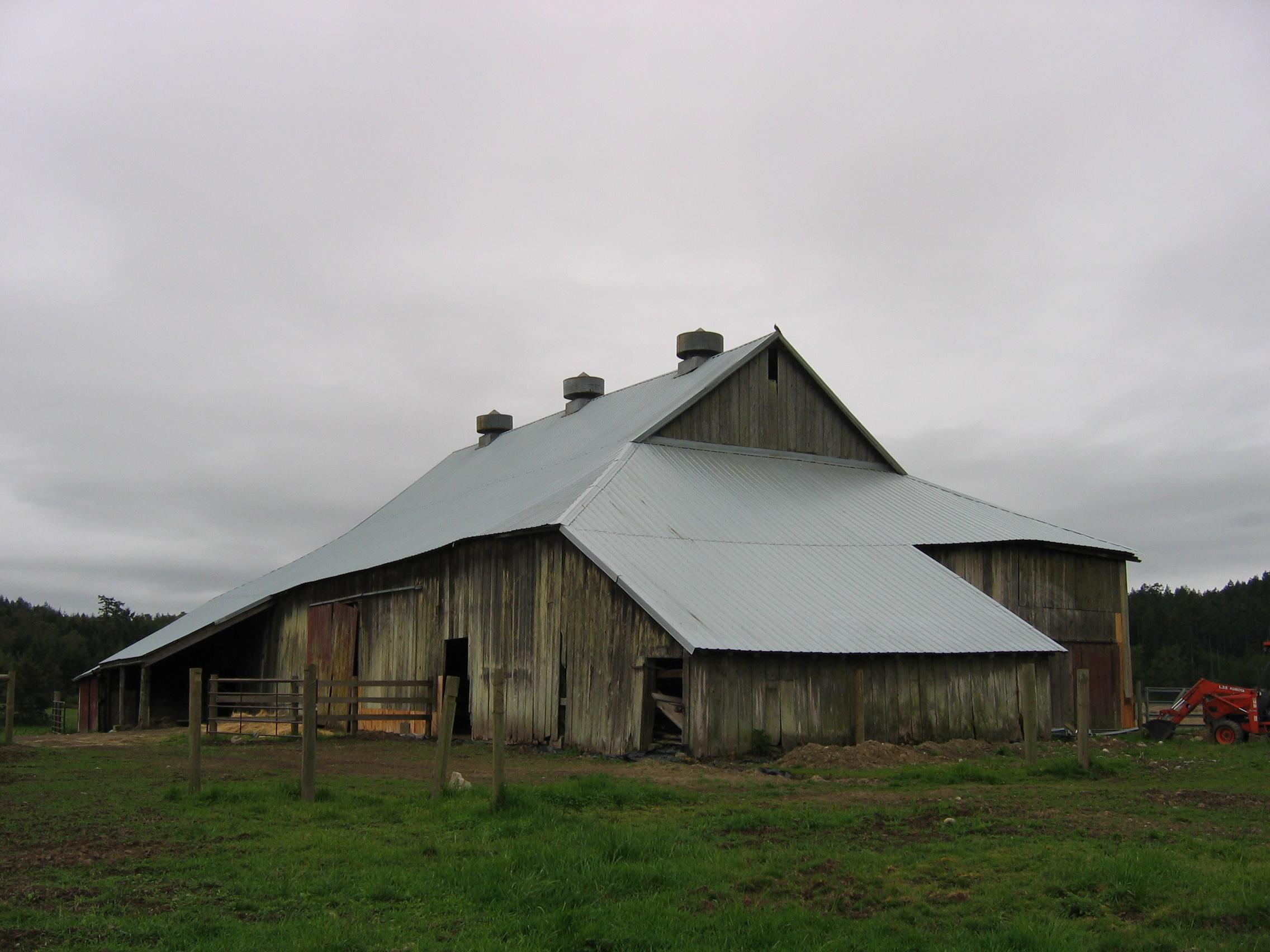 gable on hip historic barns of the san juan islands